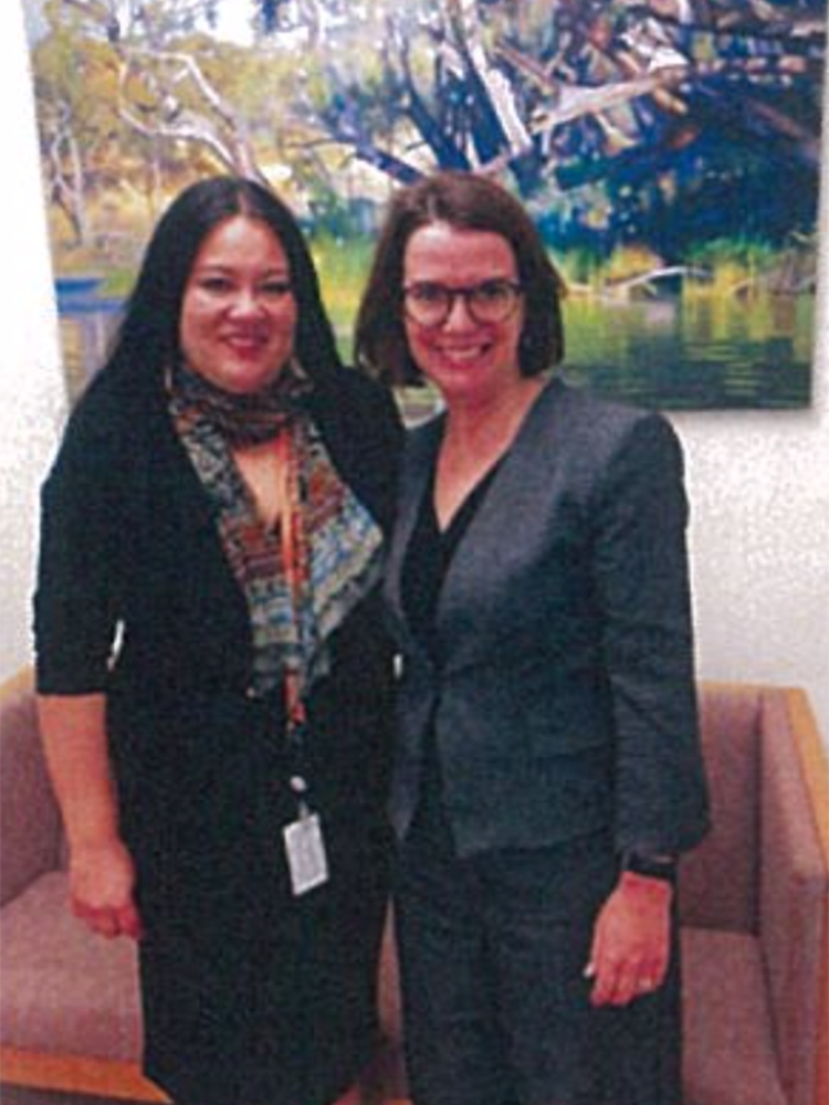 Carmen Garcia with Senator Anne Ruston, Assistant Minister for International Development and the Pacific